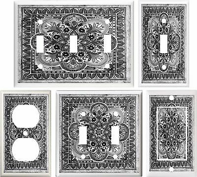 Tuscan Tile Gray Image Home Decor Light Switch Cover Plate Or Outlet V877