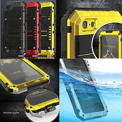 Waterproof Shock Aluminum Gorilla Glass Metal Case Cover For iPhone Model 6S 6+