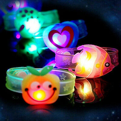 1pc Adjustable Supplies Flash Light Led Wrist Watch Bracelet Kids Boys Girls Toy