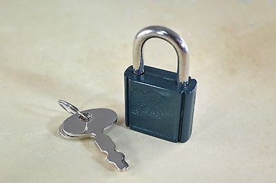Lot of 7 - Mini  Padlock Tiny Box Locks With keys - Green Color (New)