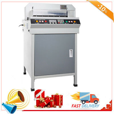 """17.7"""" Electronic  Guillotine Cutting Machine Electric Stack Paper Cutter 450mm"""