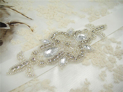 Stunning Ivory Wedding Sash Crystal Bridal Belt Wedding Accessories Waistband