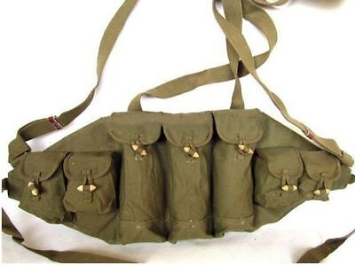 Military Original Vietnam War Chinese Type 56 Ak Type Chest Rig Ammo Pouch