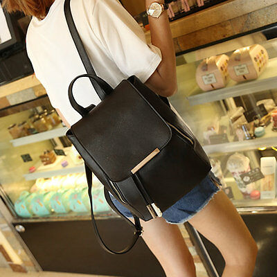 New Women Girls Backpack Fashion Shoulder Bag Rucksack PU Leather Travel bag MC