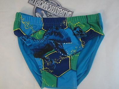 JURASSIC WORLD Licensed Boy 1x briefs undies jocks dinosaur blue NEW sz 3-8