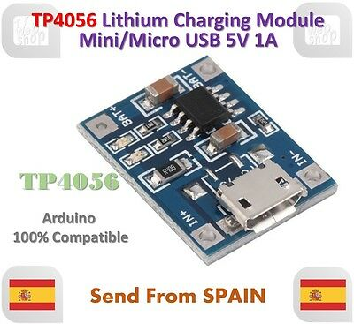 TP4056 1A 5V Lithium Battery Charging Module Mini/Micro USB Interface