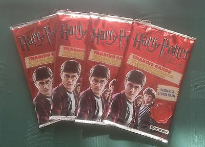 Artbox Harry Potter & the Deathly Hallows Part1 -  4 Unopened Sealed Packs