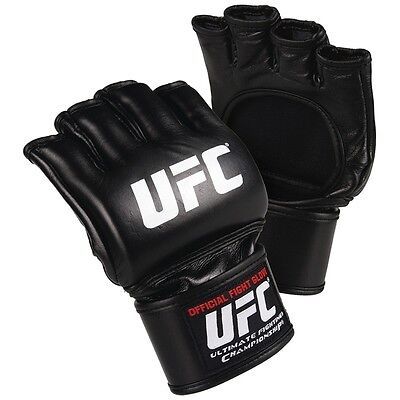 UFC OFFICIAL ADULT MMA FIGHT GLOVES BLACK Training Sparring Gym