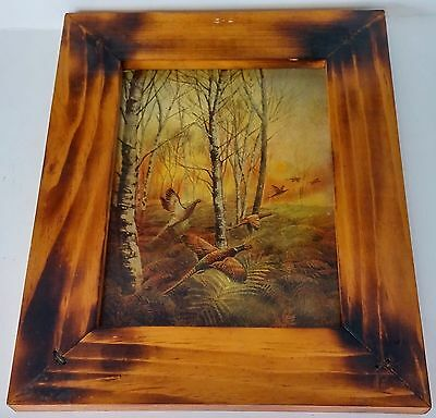 Nice Wood Framed Colorful Pheasant Picture
