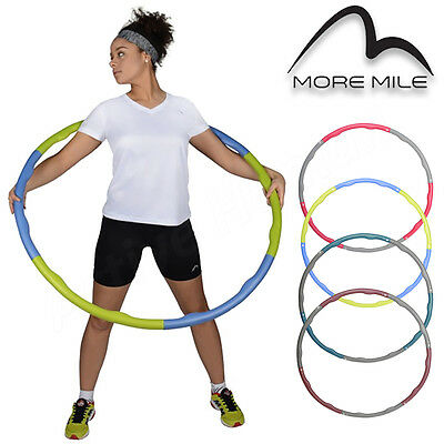 More Mile Weighted Padded Hoola Hula Hoop Fitness Abs Exercise Workout Fitness
