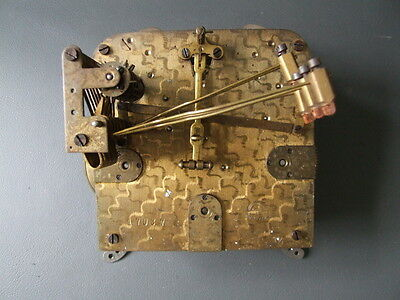 Vintage Haller German chiming mantel clock movement for repair spares steampunk