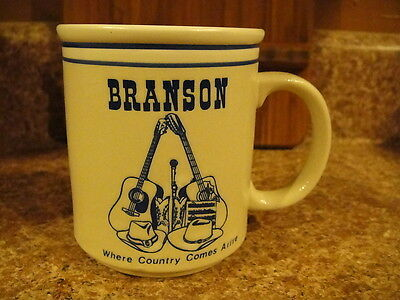 Branson Country Music Capitol - Where Country Comes Alive - Ceramic Cup Mug EUC
