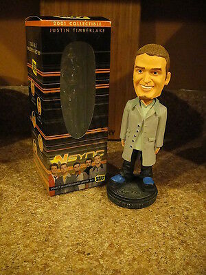 JUSTIN TIMBERLAKE ~ N SYNC 2001 Best Buy Exclusive Bobblehead w Original Box