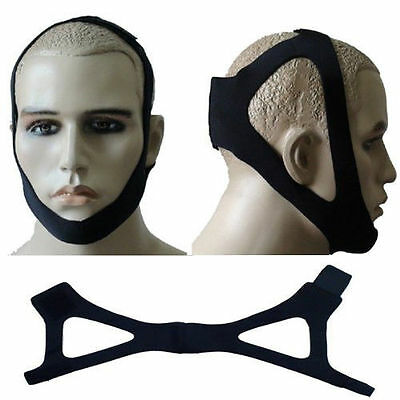 Anti Snore Stop Snoring Sleep Apnea Strap Belt Jaw Solution Chin Support 1 Size