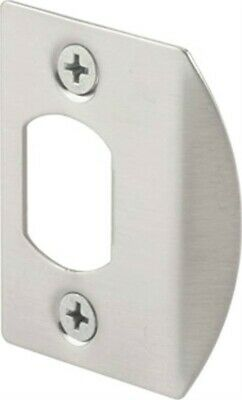 Door Strike Plate Satin Nickel,No E 2456,  PRIME LINE PRODUCTS, 3PK
