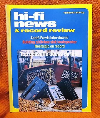 Vintage Hi-Fi News & Music Review Magazine February 1978 - Free Post Mainland