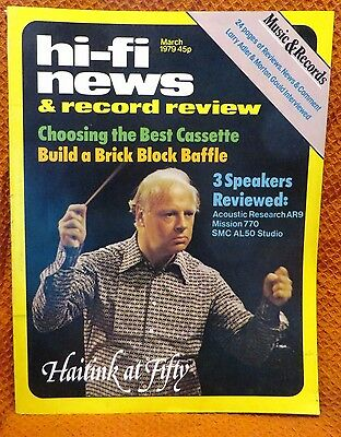 Vintage Hi-Fi News & Music Review Magazine March 1979 - Free Post Mainland
