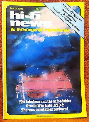 Vintage Hi-Fi News & Music Review Magazine March 1981 - Free Post Mainland