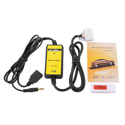 Car Music CD Interface USB Adapter Cable AUX-in Input For Toyota Lexus AC469