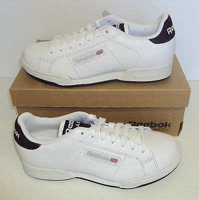 Reebok Men's Leather White NPC Rad Pop Classic Trainers Shoes New Size 5.5