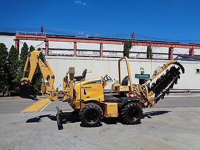 2006 Vermeer RT650 Trencher - Backhoe - 6 Way Dozer Blade - Low Hours