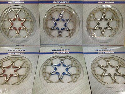 Quaxar Axim ultralight floating disc brake rotor 160 mm 180mm, 6 colours + BOLTS