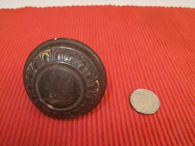 "Antique Cast Iron Ornate Victorian Doorknob 2 1/8"" D"