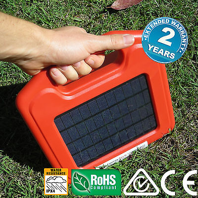 3KM 5KM Electric Fence Energizer SOLAR Energiser Charger Lithium Farm Pet Animal