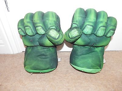 RARE Marvel Talking The Incredible Hulk hands fancy dress up figure toy 2008