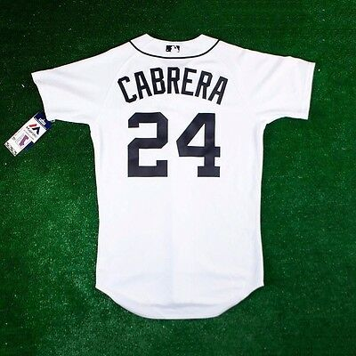 b7ae6c1fd90 2011 AUTHENTIC MIGUEL Cabrera Detroit Tigers Jersey 52 Home White ...