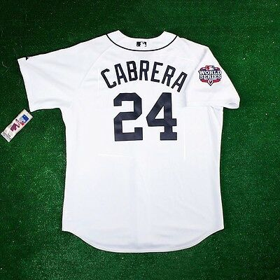 d1e36f0a380 Miguel Cabrera Detroit Tigers Authentic 2012 World Series Home White Jersey