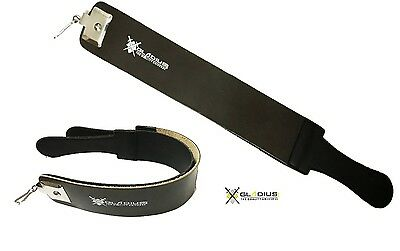 Genuine Leather Strop Strap Belt Straight Edge Razor Sharpener Belt BLACK NEW