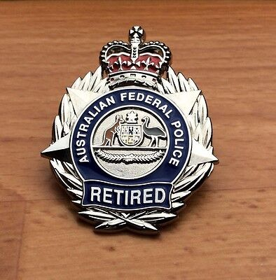 Australian Federal Police Retired Badge 50mm - SOCIAL ONLY