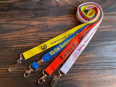 """25 Pcs Top Quality Polyester Custom Lanyards--3/4"""" 1 Color -Imprint---New!!!"""