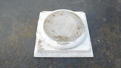 "Vintage Wooden Hand Made  Pillar Base  Display 14 ""X 14 """