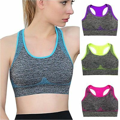 Women Sport Racerback Soutien-gorge Padded Yoga Fitness Stretch Workout Tank Top