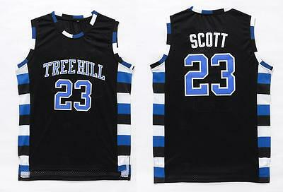 Nathan Scott #23 One Tree Hill Ravens Movie Basketball BLACK SEWN Jersey S-3XL
