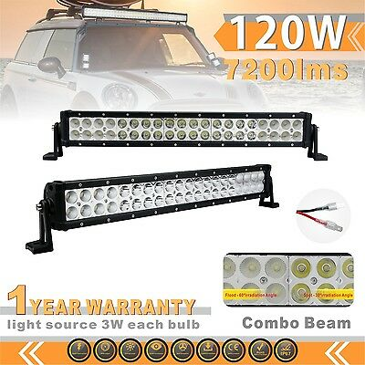 120W 22''Combo Cree Led Light Bar for Jeep Off Road Truck ATV 4WD 12/24V IP67