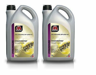 2X 5L Millers Millermatic ATF+4 SP3 III-WS Auto Transmission Oil Fluid 10 Litre