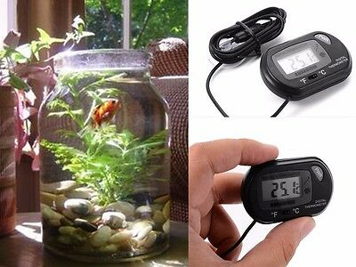 Digital Fish Aquarium Water Tank Thermometer Temperature Meter Waterproof LCD UK