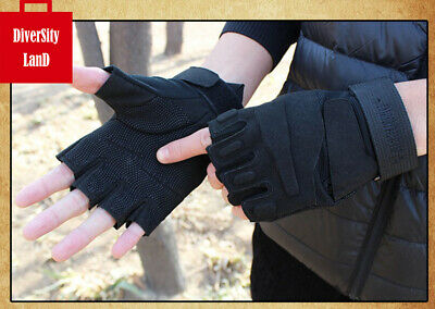 Motorcycle Bike Military Tactical Riding Hunting Fingerless Gloves