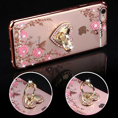 US Shockproof Bumper Silicone TPU Bling Clear Case Cover For iPhone X 6 7 8 Plus