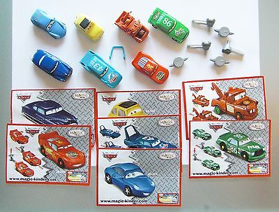 Kinder Cars Disney 2006 Serie Completa Con Cartine