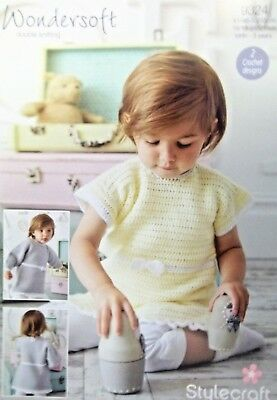 "Stylecraft DK Crochet pattern Babies Childs Dress and tunic 16""-22"" 9324d"