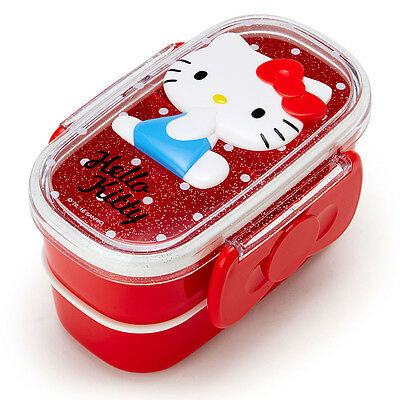 Hello Kitty Relief W 2-stage Lunch Case Bento Box ❤ Sanrio Japan