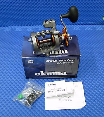 Okuma HI Speed Cold Water Trolling Reel With Depth Counter NEW!!! CW 303DS