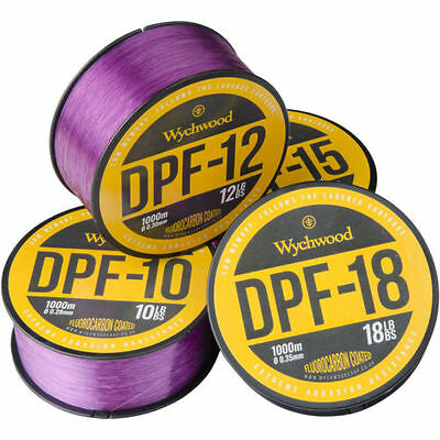 NEW Wychwood DPF Deep Purple 15lb Fluoro Coated Monofilament line 1000m Spool