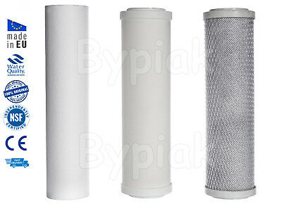 New 3 Stage Ceramic Water Filter Replacement Home Drinking Water Filters 10""