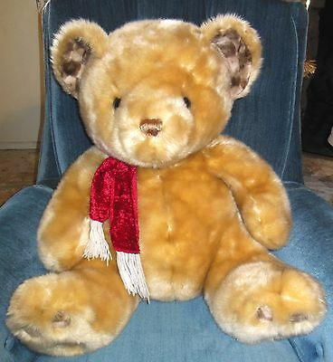 "Golden Bear 20"" Soft Plush Red Knit Scarf"