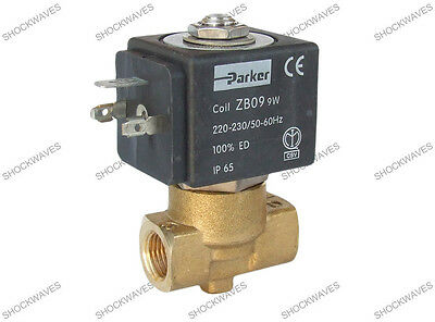 "Parker 1/4"" 2 Port Solenoid Valve 230V AC ZB09 VE146V Coffee Machine Maker"